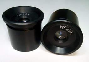 Par De Ocular 20x Para Microscópio