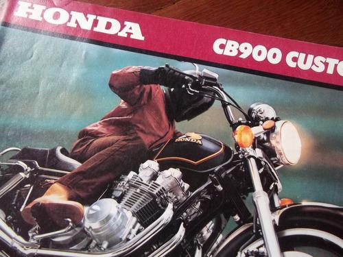 Honda Cb900 Custom 1980 Antiguo Folleto Fraganplat La Plata