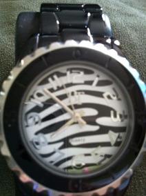 Lindo Relógio Design Zebra -venda Do Mostruário-oportunidade