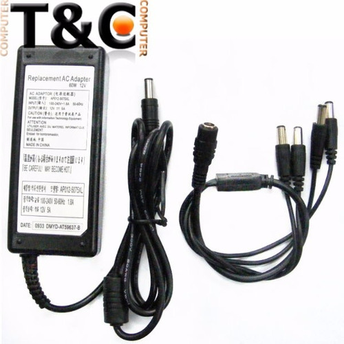 Carg. 4 Camaras 12v - 5a C/cable Pulpo 4 Bocas