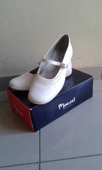 Zapatos Blancos Marcel Talle 37 De:fiesta/comunión