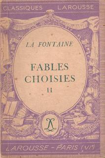 Fables Choisies 2 De La Fontaine. En Francés