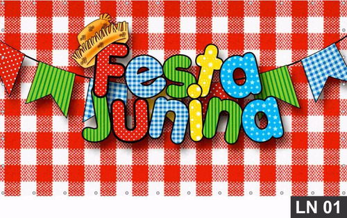 Imagem 1 de 6 de Festa Junina Painel 3,00x2,00m Lona Festa Banner Aniversário