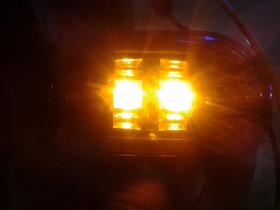 Luz Auxiliar  P/ Carreta Selada A Led Amarelo/moldura Preta