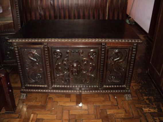 Escrivaninha Pata De Leão, Renascença,. Armário E Cadeira