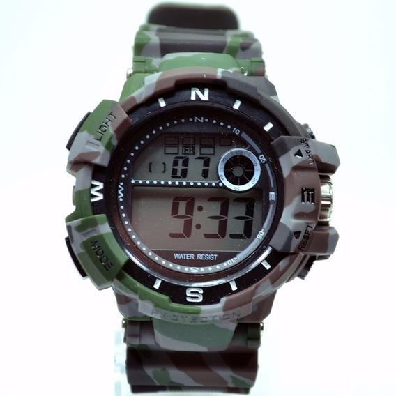 Relógio Masculino Gshock Camuflado Digital Resistente Agua