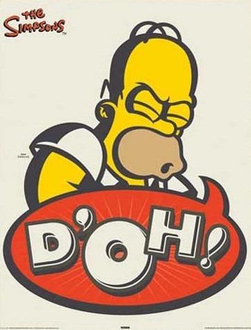 Poster De Homero Simpson - D´oh! - 40 X 50 Cm