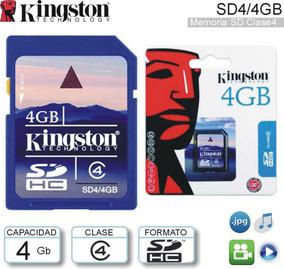 Memoria Sd 4gb Kingston Technology Class 4 Blister Original