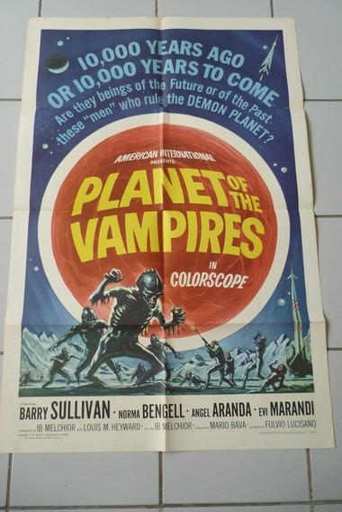Planeta Dos Vampiros- Cartaz Original Estados Unidos