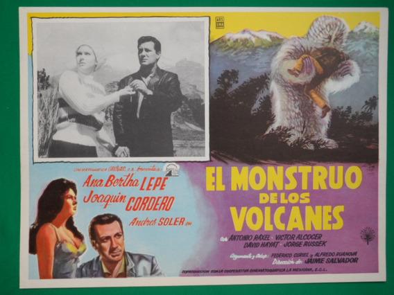 Ana Bertha Lepe El Monstruo De Los Volcanes Cartel De Cine
