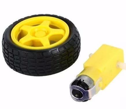 Roda + Motor Dc