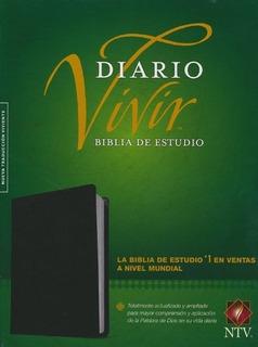 Biblia De Estudio Diario Vivir Ntv - Negro - Piel Fabricada