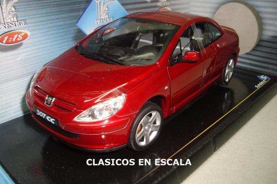 Peugeot 307 Cc - Techo Duro - Rojo - Solido 1/18