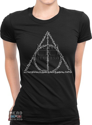 Baby Look Harry Potter Deathly Hallows Feitiços Magias Geeks