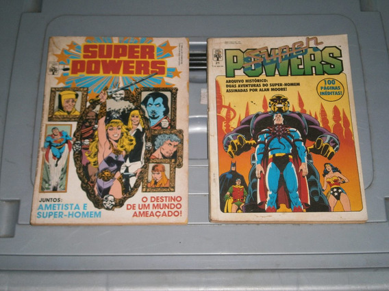Gibi Dc Pacote Super Powers E Titas 3 Gibis Antigos E Raros