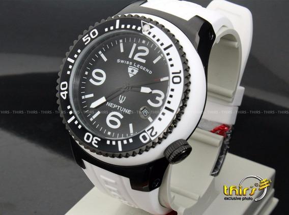 Swiss Legend Neptune Swiss 21848 - Unisex Black White 48mm