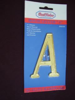 Letras Grandes Metalicas Doradas Con Sus Clavos Dorados