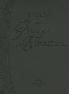 Biblia Para La Guerra Espiritual - Imitación De Piel:negra +