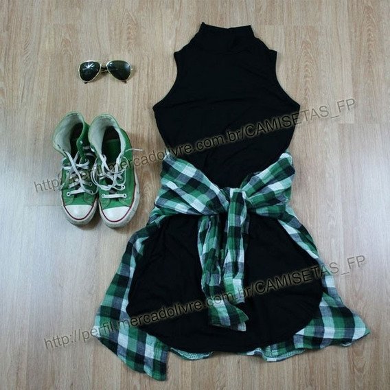 Vestido Feminino Roupa Estilo Tumblr Style Casual Moda Liso