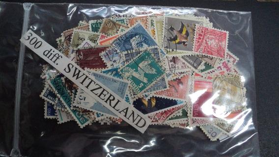 Estampillas De Suiza - 300 Diferentes