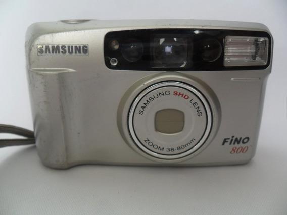 Câmera Máquina Fotográfica Antiga Samsung Fino 800 Coleção
