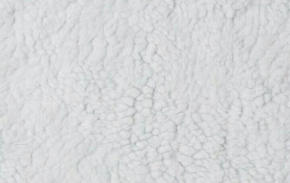 Tecido Carapinha Lã De Ovelha Pelúcia Branca