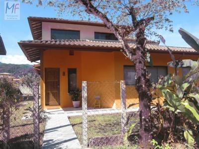 Id 5199 - Casa Cond.fechado Ubatuba 3 Dorms( 1 Ste), 2 Vgs E 4 Piscinas. - 5199