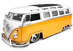 Volkswagen Kombi 1962 Amarela 1:24 Jada