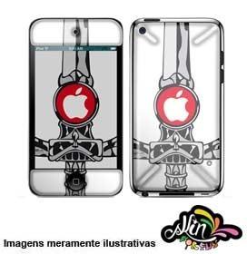 Adesivo 3d Skin Para iPod Touch 4 Canhotorium 7