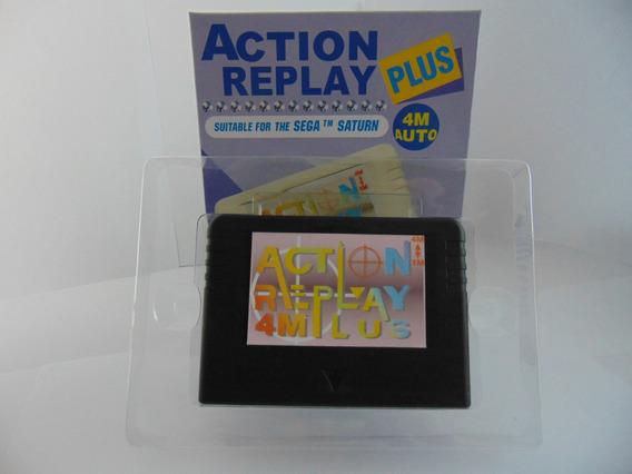 Action Replay Sega Saturn 4 Em 1 Destravador Stkey 1mb 4mb B