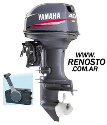 Imagen 1 de 6 de Motores Yamaha 40hp 2t Arranque Eléctrico Pata Corta Renosto