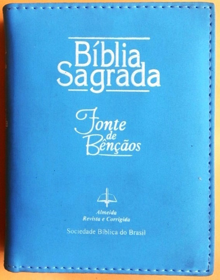 Bíblia Sagrada . Fonte De Bênçãos . Capa Acolchoada