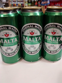 Cerveza Malta Malzbier Lata 473 Ml Brasilera