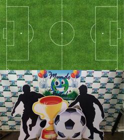 Kit Displays Futebol Neutro 8 Peças+painel 2,00x1,40 Totens