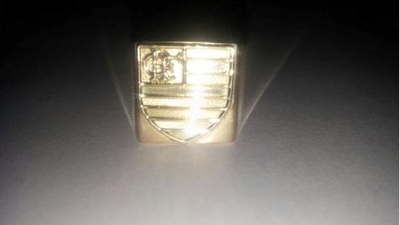 Anel Com Símbolo Do Flamengo Em Ouro 18 Kl 750.
