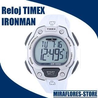 Reloj Timex Ironman Deportivo Blanco Para Caballero Cronógra