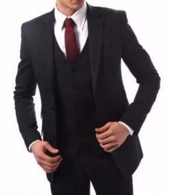 Kit Terno Completo Blazer+ Calça + Camisa + Gravata + Colete