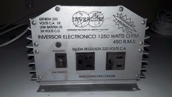 Inversor De Corriente 1250 Watts 24vcd A 220vca