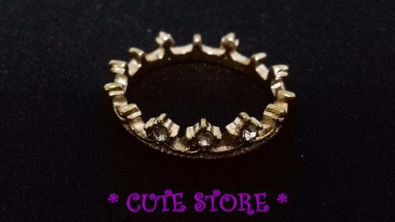 Anel Coroa Dourado Aro 18