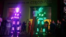 Show Robot Led Bailarinas Cumple 15 Vals Bestia - Animacion