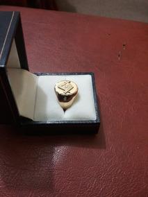 Anel Em Ouro 18k 750 Amarelo Maçonaria Maçon - Faf 34 - 6.2g
