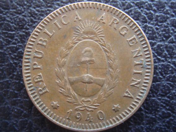 Argentina - Moneda De 2 Centavos, Año 1940 - Muy Bueno