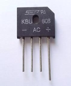 5x Ponte Retificadora Kbu 808 8a 800v Pequiberry