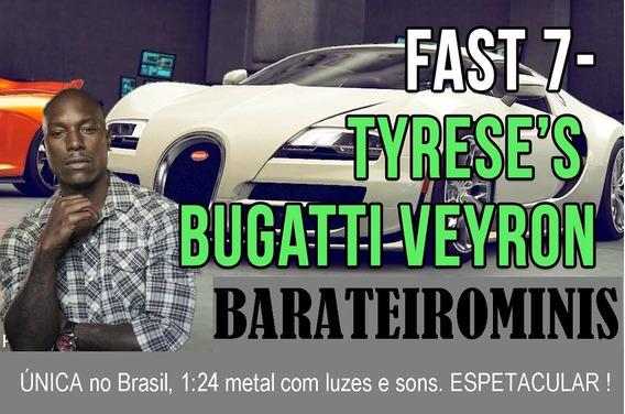 1:24 Fast & Furious Velozes 7 Bugatti Veyron Barateirominis