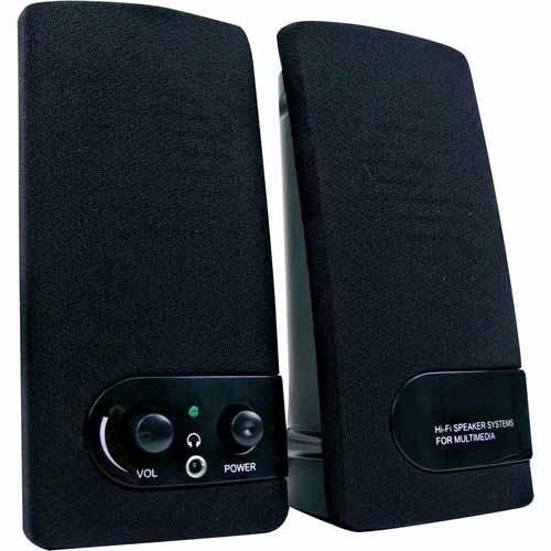 Caixa De Som 2.0 Coletek Sp-202 Bk Preta