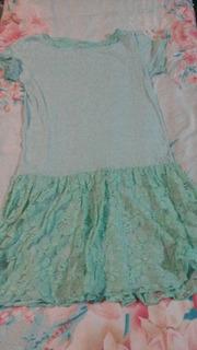 Vestido Infantil Verde Zara Kids