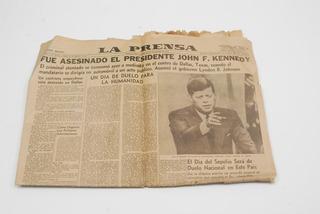 Antiguo Diario La Prensa, 23 Noviembre 1963, Kennedy