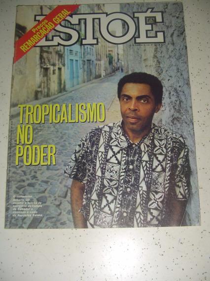 Revista Istoé 529 Gilberto Gil Bahia Tropicalismo Tete 1987