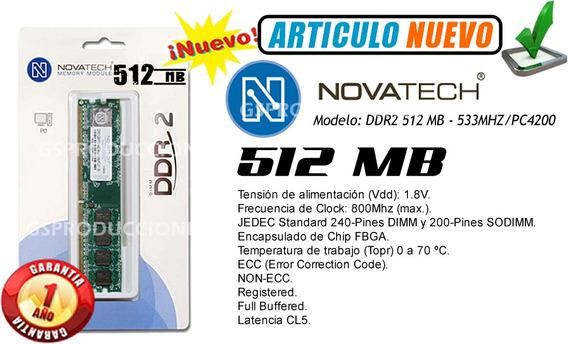 Memoria Ram Ddr2 - 256mb/533mhz - Novatech - Garantia 1 Año