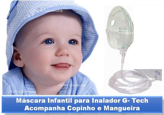 Máscara Infantil Inalador Gtech Com Copinho E Mangueira